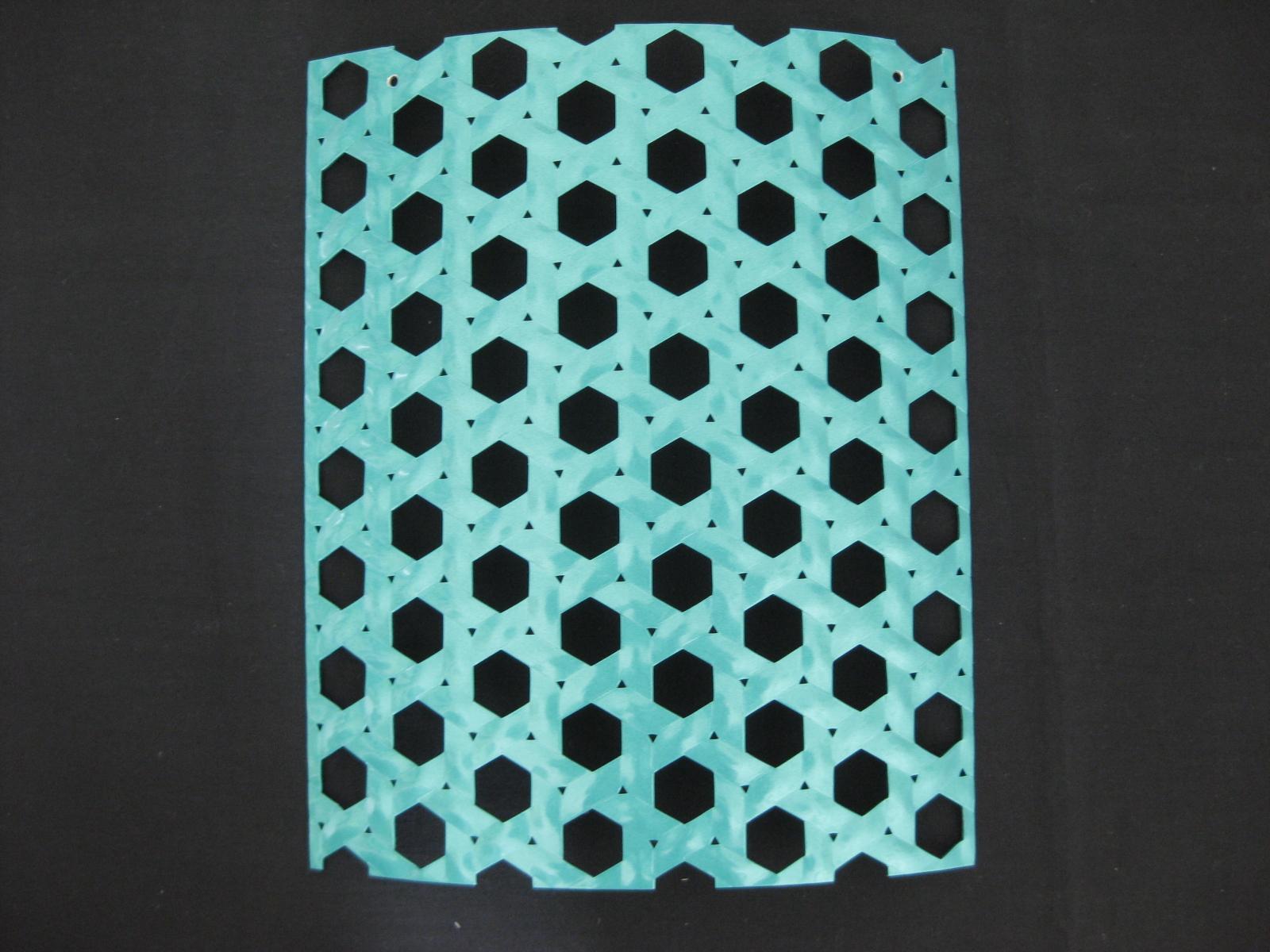 籠目模様パンチングメタル(鋼板)